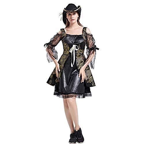 Arlt Halloween Damen und Prinzessin Kleider eignen sich for verschiedene Kostüm-Partei-Performance (Röcke + Hüte) (Color : C(W-19))