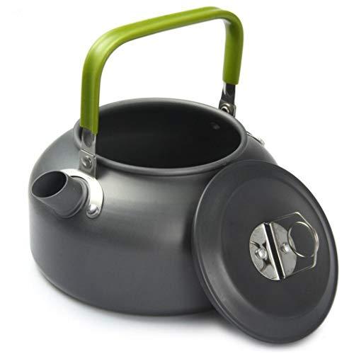 LbojailiAi Kaffeekanne Campingkocher, Aluminiumlegierung 0.8L Outdoor Camping Tragbare Kaffeekanne Wasserkocher TeekanneHaltbar für Zuhause Restaurant Büro und Draussen
