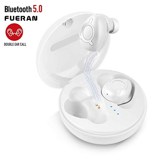 Wireless Headphones, Bluetooth Earbuds Stereo Earpieces with 2 Built-in Mic Earphone for iPhone X 8 8plus 7 7plus 6S Samsung Galaxy S7 S8 iOS and Android Smart Phones