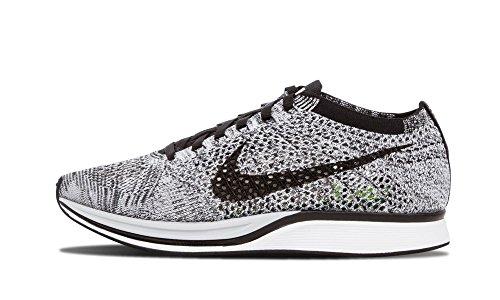 Nike Mens Flyknit Racer White/Black-Volt Fabric Size 13