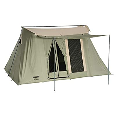 SPRINGBAR Highline 8, 10x14 Foot Canvas Tent, Water-Tight Cotton Canvas 8-Person Family Camping and Car Camping Tent