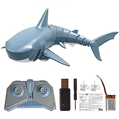 Jree Ash Remote Control Shark Toy, Rechargeable Electric Toy RC Shark Pool Toys for Kids