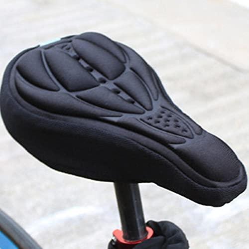 SHIYONG Sillín de Bicicleta de montaña MTB,Almohadilla de Gel de Silicona 3D, Funda de cojín de Esponja, cojínUltra Suave cómodo Engrosado