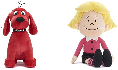 Clifford the Big Red Dog 13' and Emily Elizabeth 10.5' Soft Plush Doll (Set of 2)