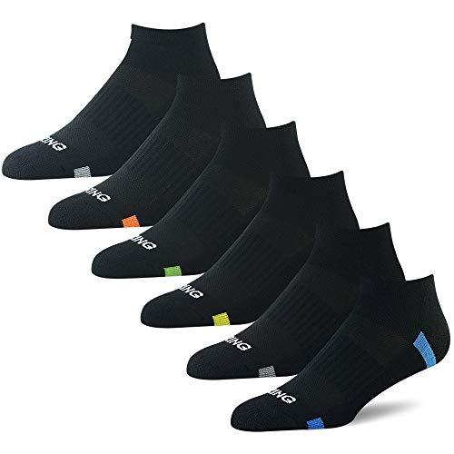 BERING Men's Athletic Low Cut Ankle Socks for Running, Walking, Golf (6 Pack)