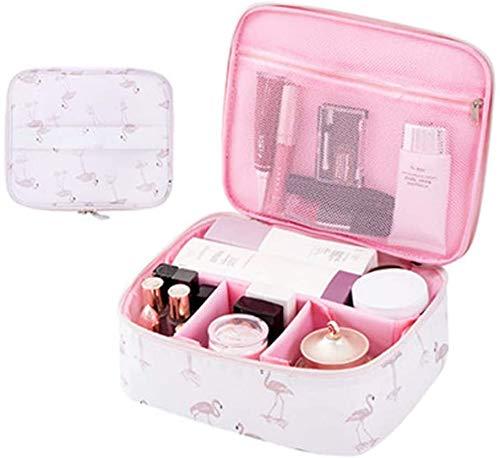 Bolsa de maquillaje Tpocean, neceser portátil para viajar, para mujeres y niñas, bolsa de aseo