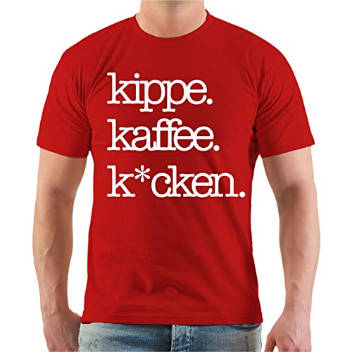 Männer und Herren T-Shirt Kippe Kaffee Kacken Größe S - 8XL