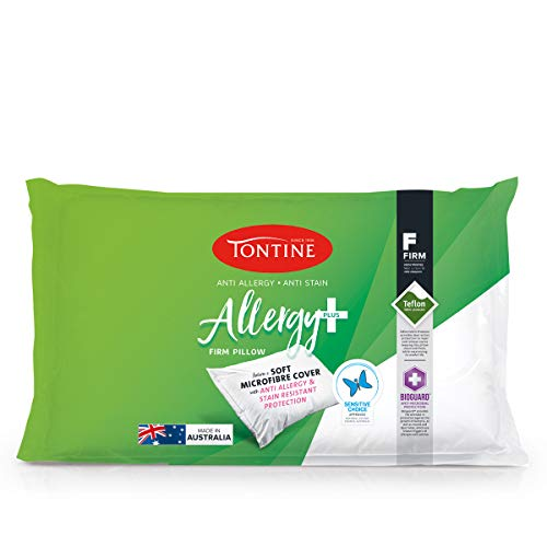 Tontine Allergy Plus Pillow, High/Firm, White, T6708
