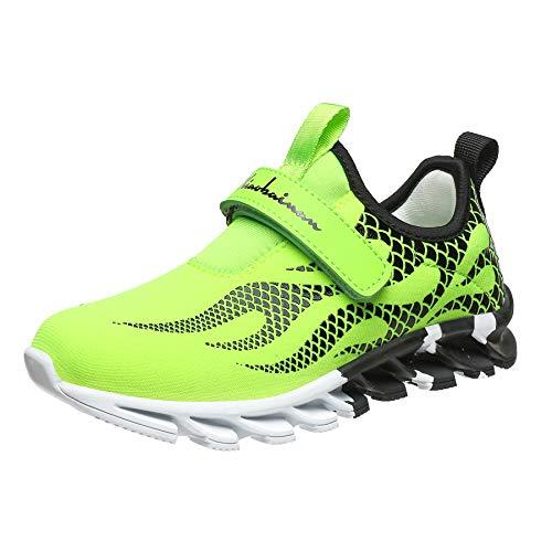 Little Boys Slip On Shoes Size 10 Kids Green Athletic Shoe Slip On Boys Comfty Light Fashion Boys Athletic Casual Walking Running Tennis Sneakers 01Green 10 Little_Kid