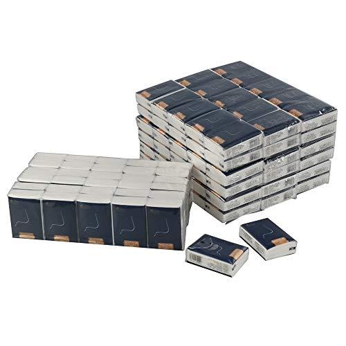 Fosly Taschentücher aus Papier, 10 Packungen mit 12 Stück, 4-lagige Taschentücher
