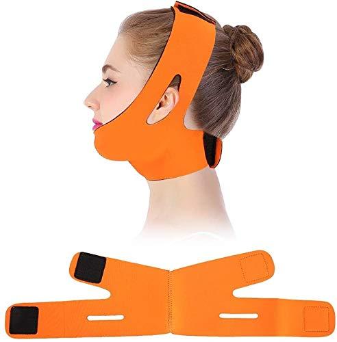 Adelgazate Masque Facial Bandage Visage Joue Respirant V Belt Line Face Lift Anti-Rides Ceinture (Color : Orange)