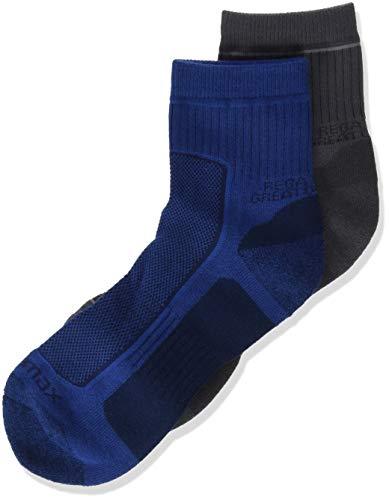 Regatta Herren 2 Pair Active Lifestyle Sock Dark Denim/Granite 9-12