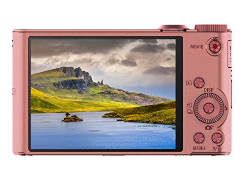 Sony DSC-WX350 Digitalkamera (18 Megapixel, 20-fach opt. Zoom, 7,5 cm (3 Zoll) LCD-Display, NFC, WiFi) pink