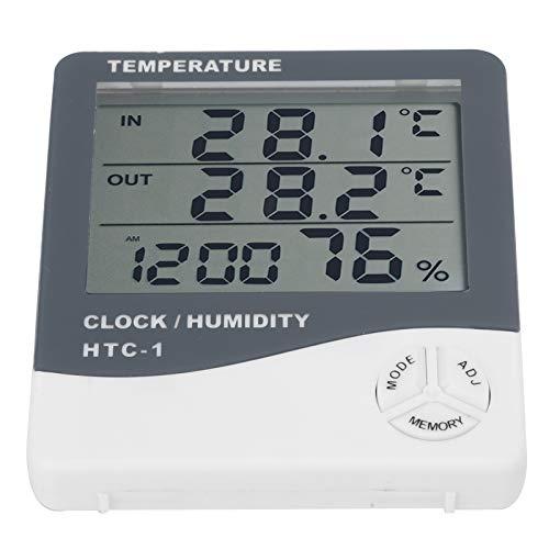 Hochauflösendes Display-Hygrometer Wasserdichtes digitales Hygrometer Verschleißfest Einfach zu verwenden, zum Erfassen der Temperatur, zum Messen der Temperatur