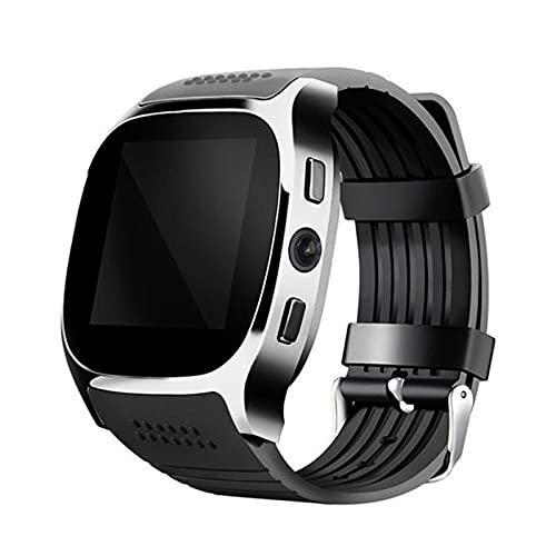 zyz T8 Bluetooth Smart Watch 1.54 Pulgadas, Rastreador De Ubicación De Movimiento, con Reproductor De Música De Cámara, Adecuado para Android,Negro
