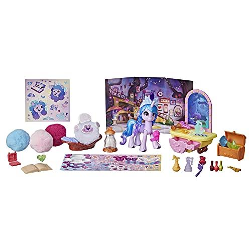 My Little Pony: A New Generation Tierchen Styling Izzy Moonbow – Storyszenen-Spielzeug mit 25 Accessoires und einem lilafarbenen Pony (7,5 cm)
