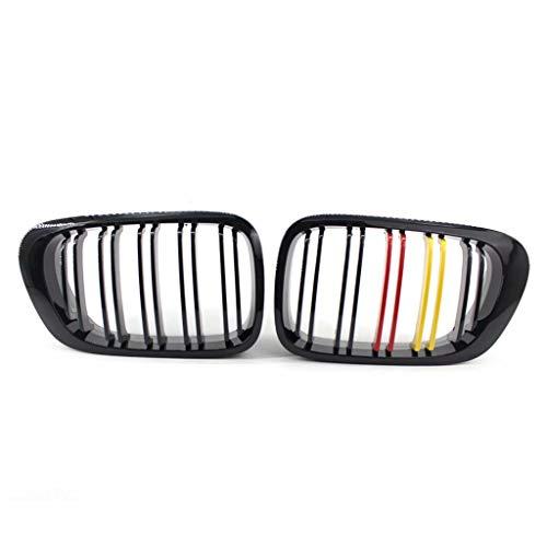 LY-QCYP Parrilla Delantera para riñón, Compatible con BMW E46 320Ci 325Ci 330Ci M3 1999-2002 ABS Moldura de la Cubierta de la Parrilla del Marco del Parachoques Delantero (Tricolor)