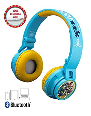 Kids Toy Story 4 Kids Bluetooth Headphones for Kids Wireless Rechargeable Foldable Bluetooth Headphones with Microphone
