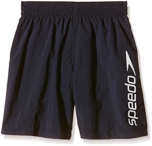 Speedo Challenge 15 Wsht Jm, Pantaloncini da Bagno Bambino, Multicolore (Blu Navy/Bianco), 11-12 Anni