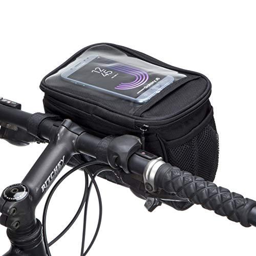 BTR Wasserabweisende Fahrradtasche und Handyhalterung mit durchsichtigem PVC-Fenster für Tablet oder Handy, zur Befestigung am Lenker BZW. Steuer- oder Oberrohr für Karten und Navigationssysteme - 4