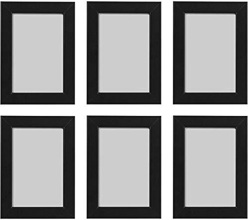 Ikea FISKBO - Marco de fotos (10 x 15 cm, 6 unidades), color negro