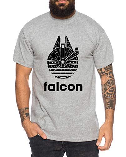 Adi Falcon - Camiseta de Hombre Fast Falcon Wars T-Shirt Star Imperium Boba Fiction Darth, Farbe2:Gris Brezo, Größe2:Medium
