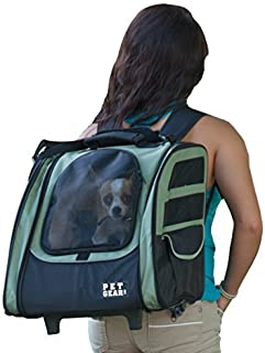 Pet Gear I-GO2 Traveler Roller Backpack for cats and dogs, Sage by Pet Gear