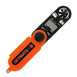WeatherHawk SM-19 SkyMate Hand-Held Wind Meter, Orange/Black
