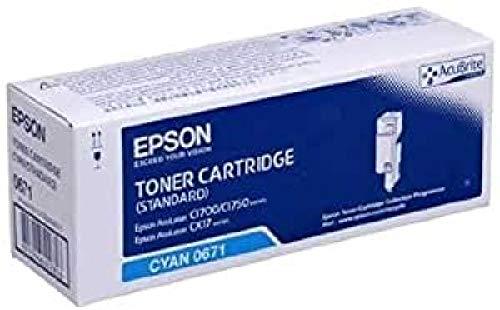 Epson C13S050672 - Cartucho de tóner para Epson AL-C1700/C1750/CX17, negro