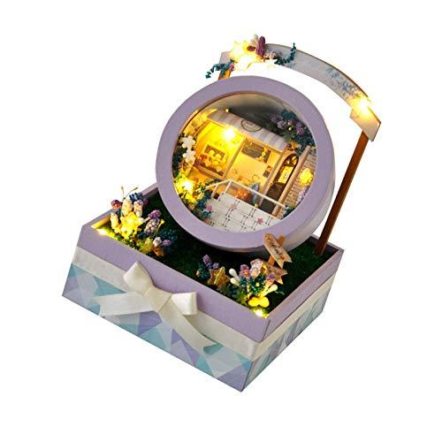chora DIY Gartenhaus Bastelsets Kreative Puppenhausmöbel Zubehör Miniatur Architektur Verwendet für Thanksgiving, Weihnachten, Geburtstagsgeschenke