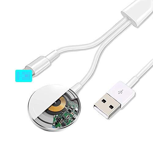 Cable magnético actualizado del cargador de reloj de la versión 2021 para iWatch 6/5/4/3/2/1,cable de carga inalámbrico 2 en 1 competitivo con Apple Watch Series 6/5/4/3/2/1 y iPhone 11 Max Pro/XR/XS