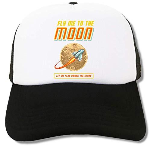 Fly Me to The Moon Retro Gaming Art Trucker Cap Baseball Hat