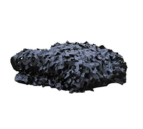 CZWYF Pure Black Camouflage Net Shading Net Geeignet for das Schießen Versteckte Outdoor Woodland Camping Camouflage Net (Size : 4mx5m)