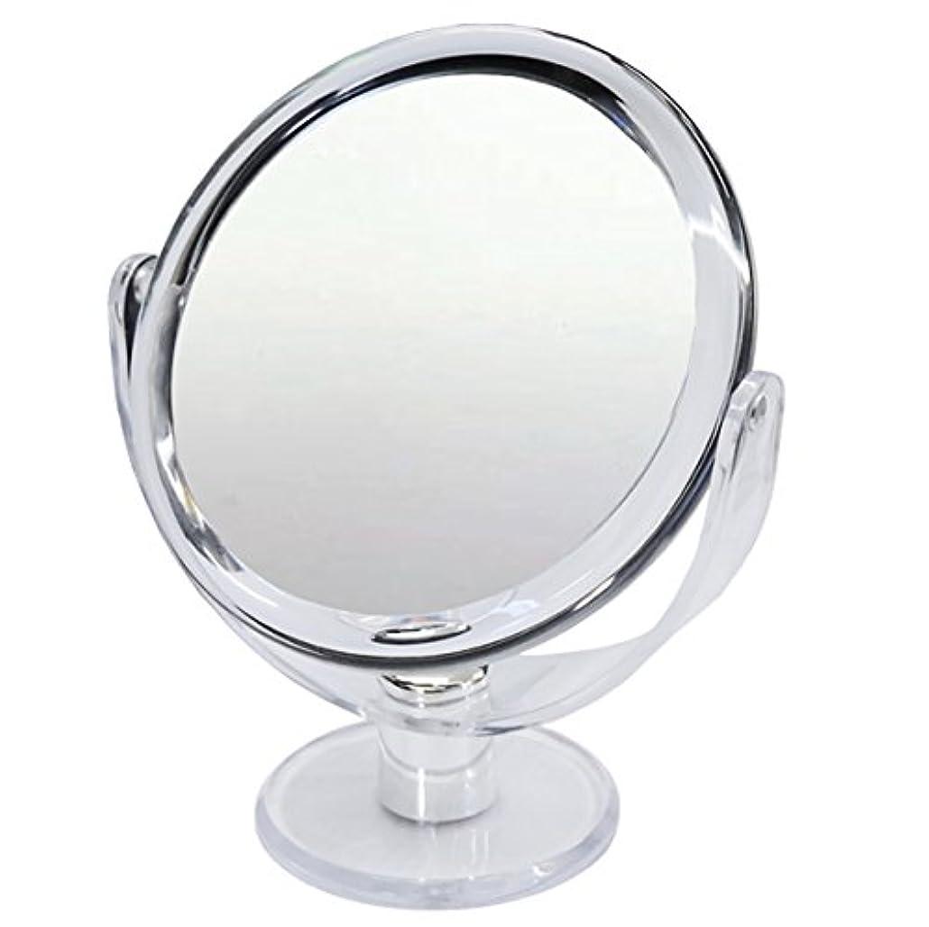 錫相反するもの10倍 拡大鏡 スタンドミラー 等倍鏡と10倍鏡の両面鏡