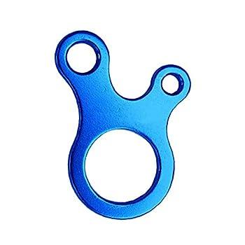 Boucle De Corde, Boucle Extérieure en Forme D'escargot en Forme D'escargot Trois Trous Multifonctions Corde Boucle Rapide Nouage Tente Outil De Réglage Bleu Boucle