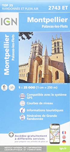 Montpellier / Palavas-Les-Flots (2018) (Top 25 & série bleue - Carte de randonnée)