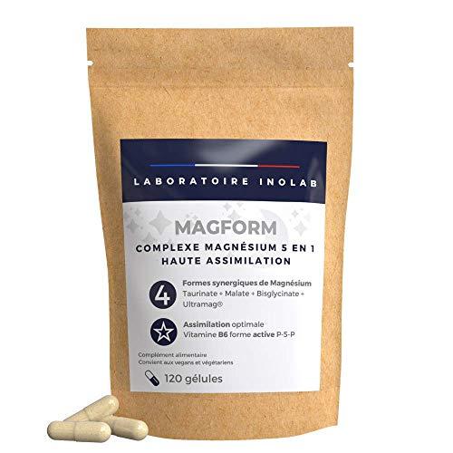 Magnesium + Vitamine B6 | Tolérance digestive | 4 formes Complémentaires: Bisglycinate, Malate, Taurinate, liposomal | Action complète & rapide | Assimilation Supérieure au Magnésium Marin