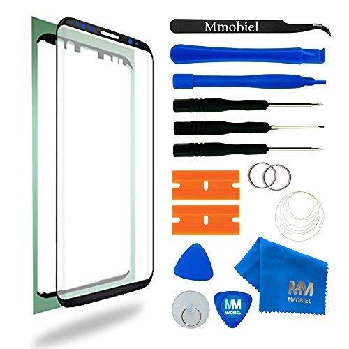 MMOBIEL Kit Reemplazo Pantalla de Vidrio Compatible con Samsung Galaxy S8 Plus G955 Series 6.2 Pulg (Negro) Inc Htas.