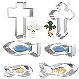 LOVEXIU Cookie Cutters a Forma di Santa Croce, Set di Stampi per Biscotti, 6 PCS Formine p...