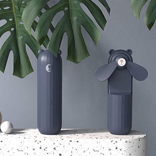 Mini Ventilador portátil, Ventilador de Mesa Plegable Recargable con Pilas, Ventilador de refrigeración USB Personal portátil para el hogar, la Oficina(Blue,1200 mAh)