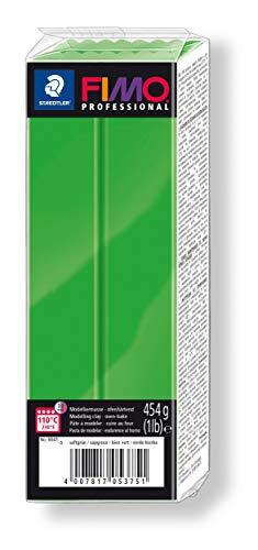 STAEDTLER FIMO professional ofenhärtende Modelliermasse (Großblock 454g (1 lb)) Farbe: saftgrün