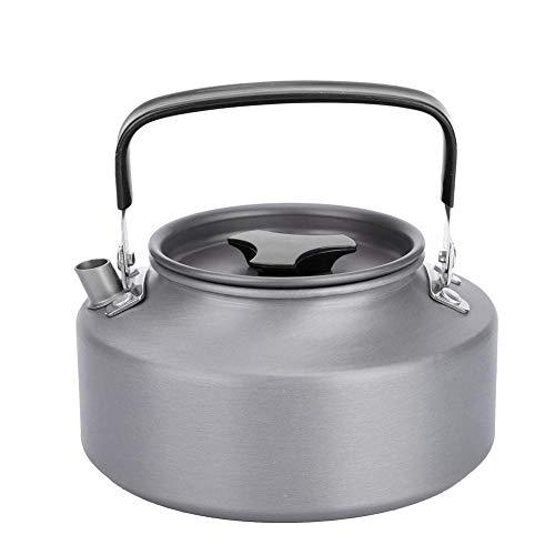 Broco 1.1L Aluminium Theepot Koffie Theepot Ketel voor Camping Wandelen Keuken Zwart Handvat