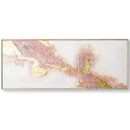 SILYHN Schöpfung Abstrakte Ölgemälde Auf Leinwand Für Wohnzimmer Home Bilder Malen Nach Modernen Öl Wandkunst Gemälde Rahmenlose 90 cm x 150 cm kein gestaltet