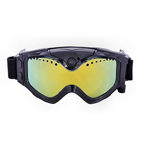 ZYD 2020NEW Skibrillen Erwachsene Kinder Skibrille WiFi Ski-Kamera-1080P Anti-Fog Sport DVR Gläser Geeignet Für Männer Und Frauen Wintersport (2ST),1080p,32GB TF