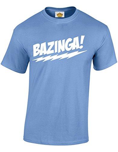 Crown Designs Bazinga Komödie Tv Inspirierte Show Geschenk Für Männer Und Jugendliche T-Shirts Tops (Carolina Blau/X-Large)