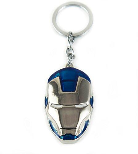 Lzy-store Tony Stark Iron Man ou War Machine Porte-clés Superhero Sac Accessoires (doré)
