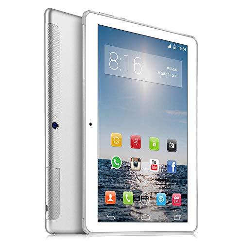 TOSCIDO 4G LTE Tablet 10 Zoll - Android 10.0 ,4GB RAM,64GB ROM,Octa Core 2 GHz CPU schnelle Geschwindigkeit,Dual SIM,WiFi,Dual Stereo Lautsprecher - Grau