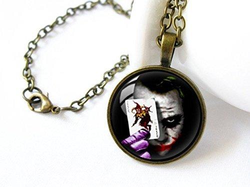 Collar hecho a mano de la cúpula de cristal, collar del Joker, collar horrible, joyería de los hombres