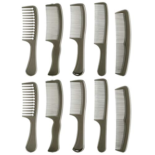 Uonlytech Peignes à Cheveux Set 10-Pack Peigne Cheveux Peignes de Coiffage Professionnel Peignes à Cheveux pour Femmes Et Hommes