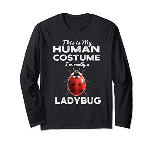 Este es mi disfraz humano Kawaii Ladybug Cosplay Manga Larga